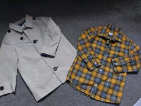 Boys river island rain mac and shirt