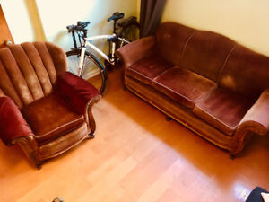 Vintage couch and matching chair