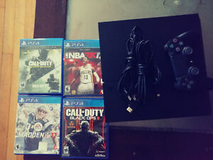 Ps4 system with games
