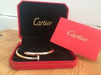 Rose gold plated Cartier Bracelet