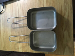 Camping Mess Tins (Dutch Army) stainless steel