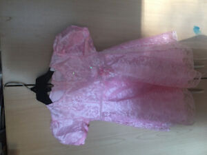 Girls - Pink Beaded Dress