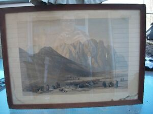Antique Hand Colored Lithograph by David Roberts, Holy Land