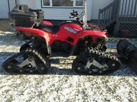 yamaha grizzly with tracks