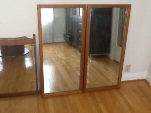 Mirror in Teak 20x42 in