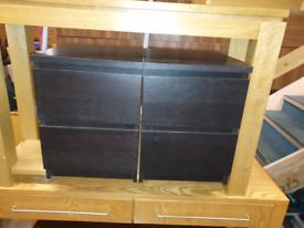 24. Pair of blackwood bedside lockers