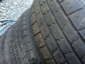 4 crv steal  rims with 205-70-15 good tires