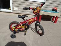 "Kid's 12"" Bike Disney Cars Lightning McQueen with Helmet"