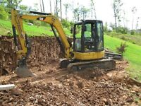 Mini Excavator and Backhoe Services Offered