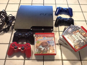 164 GB Console and Games. (no controllers)
