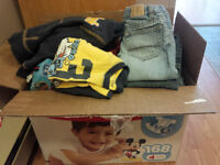 Box full of size 2T/24 month clothes.