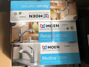 Moen Kitchen and bathroom shower and fuecets