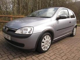 03/52 VAUXHALL CORSA 1.0 ACTIVE 3DR HATCH IN SILVER (P/X TO CLEAR / NEW MOT)