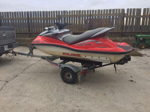 2002 Polaris msx 140 and trailer