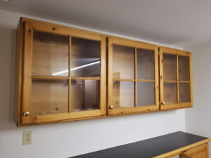 Wall cabinet and base cabinet for basement