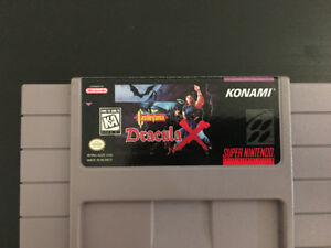 Earthbound and Dracula X! SNES.