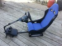 Racing Seat with Logitech Wheel