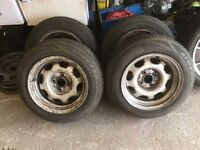 """Vw 13"""" 4x100 banded steels"""