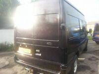 ford transit 1 off a kind full 12 months mot twin side doors never welderd ideal day van camper