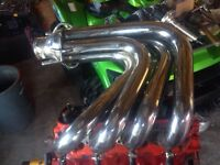 Patterson big block marine stainless exhausts