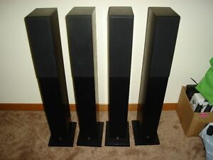 YAMAHA NS-10MMF FLOOR STANDING SURROUND SPEAKERS - MINT !!!