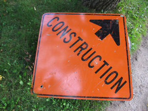 Construction Sign, 3' X 3'  Great for the garage wall