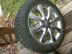ORIGINAL INFINITI  4X 18 INCH 5/114.3 MAG AND TIRE 225-55-18