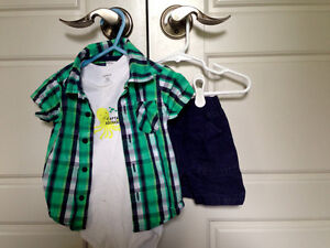 Carters 3pc summer outfit, size 12mos $2