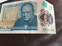 AK39 £5 note