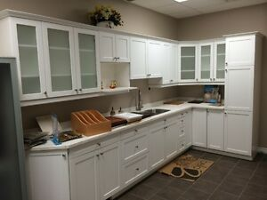 New Solid Wood Kitchen, with Corion Counter top, Sink& Faucet