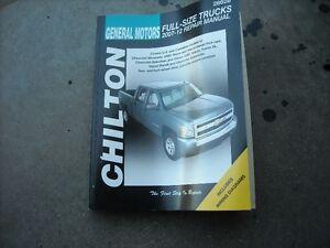 Chilton  GM 2007-2012 full size truck repair manaul