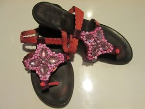 LADIE'S SANDALS SZ. 6M  GENTLY USED   CORAL COLOUR  $15.00