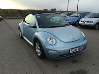 2004 04 Volkswagen Beetle Cabriolet 2.0 Convertible Petrol Blue 3 Door.