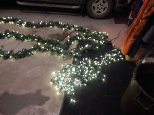 Greenery and LED clear outdoor lights -Christmas Lights