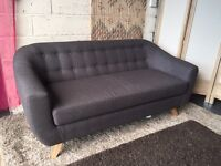 New Marks and Spencer Harper 3 Seater Sofa in Charcoal Grey