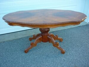 Coffee - Window Table- Mahogany Inlaid Satinwood - Antique