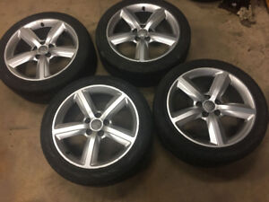 Audi/VW Alloy Wheels with Nokian WR 225/45/17 Tires