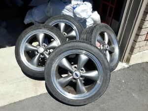 Mustang Bullet Rims and Low Profile Tires