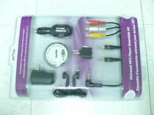 New MP3 Player Kit with USB Charger Headphone A/V Cable