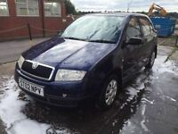 Bargain skoda fabia Classic 8v long MOT no advisories