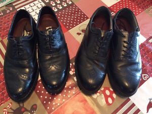 2 pair Men's black leather dress shoes $35 each