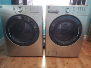 7 year old Kenmore front load washer and dryer for sale