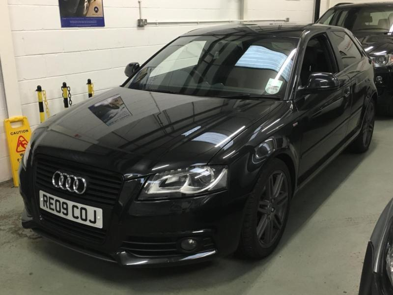 2009 audi a3 1 8t fsi s line black edition 3 door black tfsi turbo low miles in wigan. Black Bedroom Furniture Sets. Home Design Ideas