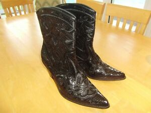 HELENS HEART SPARLE SEQUIN BLING SHORT WESTERN BOOTS SIZE 11