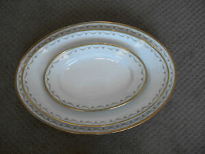 Vintage Limoges: Three oval platters