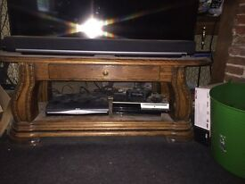 Tv stand and leather sofas