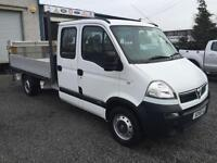Vauxhall Movano d/cab only 42,000 miles 2.5 td lwb dropside