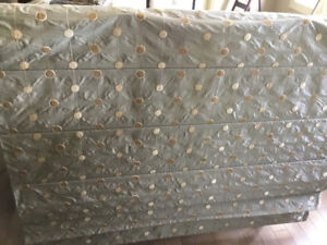 Grey with gold and beige dots Roman shade