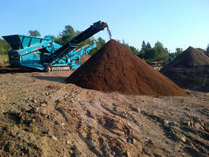 Golf course quality topsoil