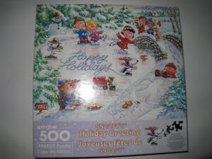 Snoopy's Holiday Greeting Jigsaw Puzzle 500 Pieces by Springbok